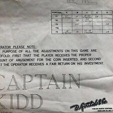 Gottlieb Cap. Kidd Pinball Machine Schematic