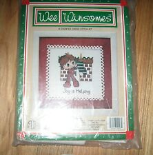 "1 Darling Christmas OOP 1984 ""Joy is Helping"" Counted Cross Stitch Kit"