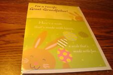 EASTER: For a Terrific Great-Grandfather / greeting Card + envelope  New e35