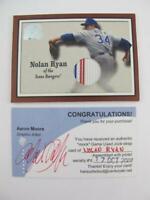 2001 Fleer 1/1 Mock Game Used Jock Strap Nolan Ryan #33 Greats of Game 2000 Card