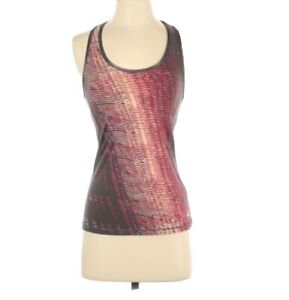 ALO Active/Exercise Racerback Support Tank Top Pink/Gray Sz XS Sleeveless