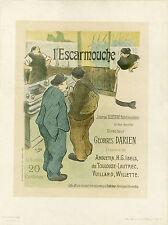 """""""L'ESCARMOUCHE"""" Litho entoilée Maîtres de l'Affiche Pl. n°6 H.G. IBELS 1893"""
