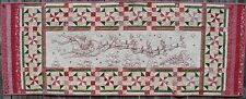 Up Up & Away Hand Embroidery Quilt Table Runner Pattern - Christmas Santa Claus