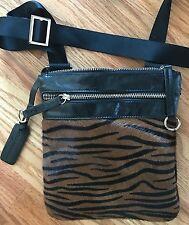 Aqua Madonna  Leather elegant tiger print Cross Body Bag New/WOT
