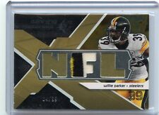 2008 SPX #WM-WP WILLIE PARKER 3-COLOR JERSEY PATCH #84/99, PITTSBURGH STEELERS