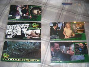 1998 Inkworks Godzilla Trading Cards Incomplete Set No's 6 18 33 49 57