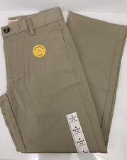 Cat & Jack School Uniform Khaki Beige Pants Flat Front Straight Leg durable knee