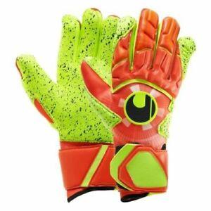 Uhlsport Dynamic Impulse Supergrip Goalkeeper Gloves Size 7.5 Orange/Yellow