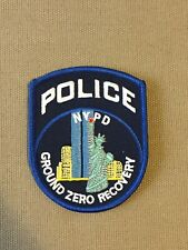 NYPD New York City Police Department Ground Zero Recovery Patch.