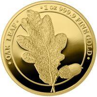 2019 Oak Leaf 100 Mark 1oz .9999 Gold Proof Coin - Germania Mint - 23 / 100