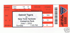 6/1/03 Detroit Tigers vs New York Yankees full ticket 17 inning game