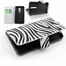 Zebra Lines Leather Flip Stand Wallet Protective Phone Case Cover For LG G2 D802