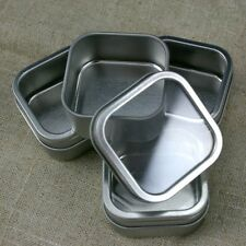 12 Square Window Tins - 2 x 2 x 1 inch  Great for Wedding/Party Favors