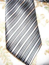 """Unworn Padded Rael Brook Tie With  Diagonal Stripes. .3 1/2"""" Wide 58"""" Long"""