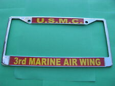 License Plate Frame-USMC-3rd Marine Air Wing-Chromed Cast Metal #811707