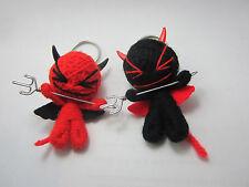 a couple Devil Voodoo String Doll Keychain Ornament Accessory (Thai handmade)