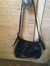 YKK Leather Shoulder Bag- BLACK & BROWN