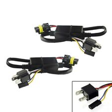 2pcs H4 HB2 9003 Hi/Lo Bi-Xenon HID Bulbs Wiring Controllers Easy Relay Harness