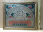 Killians Red Instead Stained Glass Vintage Sign - Unique Wood Frame