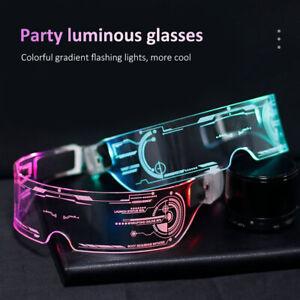 Colorful EL Wire Luminous Glasses Neon Party LED Light Up Visor Eyeglasses