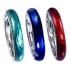 *3-PAK* SAVE_MULTI-COMBO#4_TRANSLUCENT ENAMEL RING_SIZE-4__925 Sterling Silver