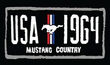 New Licensed Ford Mustang Country Bath Beach Towel Gift Usa 1964 License Plate