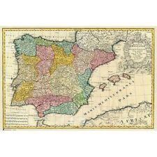 SPAIN - VINTAGE MAP POSTER 24x36 - 3637