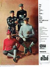 PUBLICITE ADVERTISING 115  1964  Les pulls-over pour homme Elbé