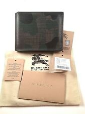 GREAT RARE $400!!! Burberry wallet bifold Camouflage green black 100% Authentic