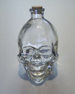 Glass Skull Bottle - $15