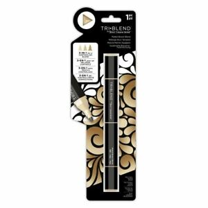 Spectrum Noir - Tri-Blend Alcohol Based 3 in 1 Marker Pen - Muted Brown Blend