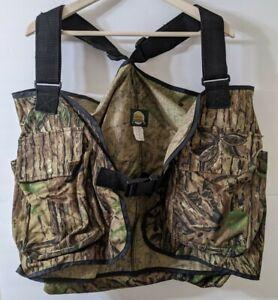 Cabela's Camouflage Vest Vintage Large Canvas Hunting Camo Utility Fishing