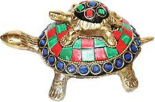 Turtle Statue Decorative Animal Brass Figurine Multicolor Tortoise Statue Gifts