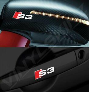 4x Audi S3 Logo Premium Cast Door Handle / Mirror Decals Stickers Quattro S-line