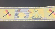 CoCaLo Lilly Pad Baby Frog Dragonfly Turtle JCPenny Cute Wallpaper Border 101030