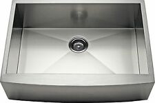 "30"" Single Bowl Apron Farmhouse Stainless Steel Kitchen Sink -AP3019- 10"" Deep"