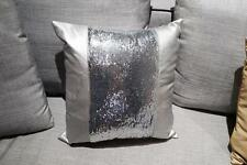 Sequin Sliver Beaded Cushion Cover Glitter Decorative Cushion Artificial Leather