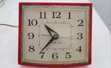 Vintage RED GENERAL ELECTRIC GE Kitchen Wall Clock MODEL 2H110