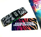 ZOX *RELEASE YOUR INNER AWESOME* Silver Strap med Wristband w/Card New Mys Pack