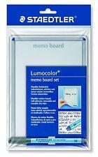 Staedtler Lumocolor 641 MB Dry-Wipe Memo Board Set with Lumocolor Correctable