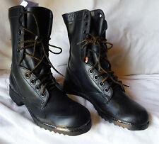 Mens Vtg 1980 Us Military Black Leather Duty Combat Boots 5.5 N (Womens sz 7)