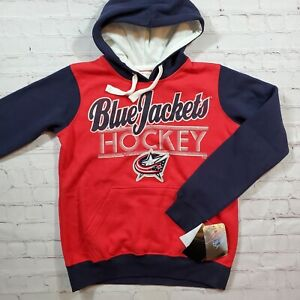 Columbus Blue Jackets Hoodie Hooded Sweatshirt Womens L NEW G-III 4Her Carl Bank