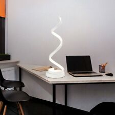 Spiral led table lamp 24 Gold and White UK Seller