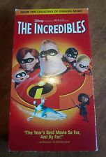 The Incredibles ~ VHS Movie ~ Rare Disney 2005 Release Video ~ Animated Classic