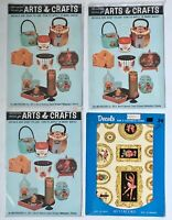 Meyercord Decals Vintage 1950's Lot of 4 New Old Stock