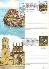 Entero Postal Edifil # 125-126 Turismo Peñiscola y Catedral de Huesca 1981