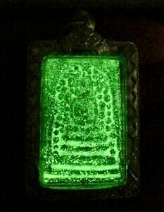 Thai Amulet Phra Somdej LP Toh Inlay LAMBENT Wat Phra Kaew GLOW IN THE DARK