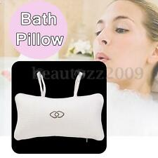 Inflatable Pillow Spa Bath Cushion White w/ 2 Suction Cups Head Neck Rest Relax