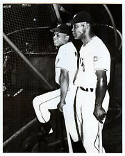 WILLIE MAYS/MONTI IRVIN 1951 New York Giants 8X10 Photo from vintage negative