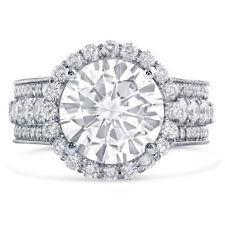 5.45CTW Forever One Moissanite & Diamond Engagement Ring R249M